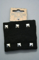 Studded black wrist band (Code 1128)